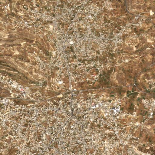 satellite view of the region around Serit el Bella