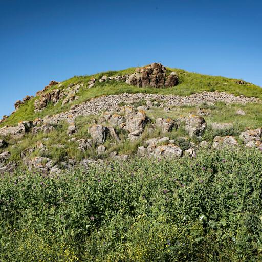 panorama of ruins at Khirbet Madin