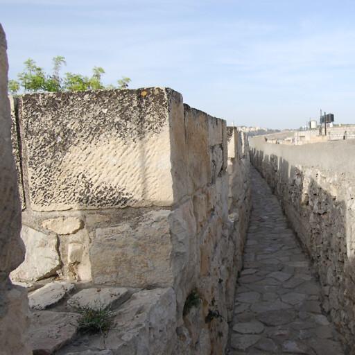 closeup of the northern wall of Jerusalem