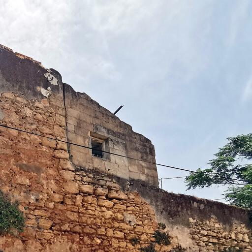 recent ruins at Bayt Dajan
