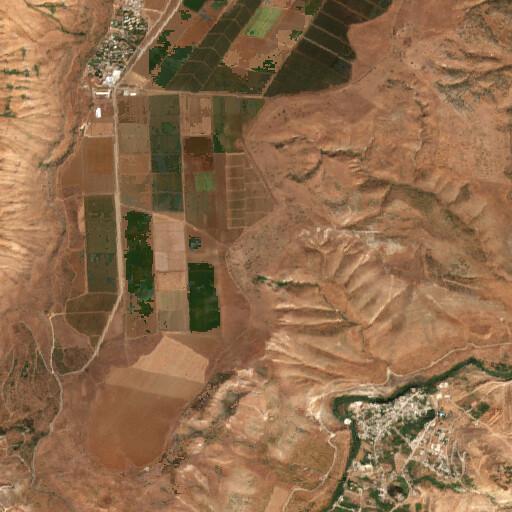 satellite view of the region around Khirbet Ayun