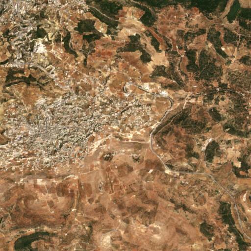 satellite view of the region around Khirbet Hamid