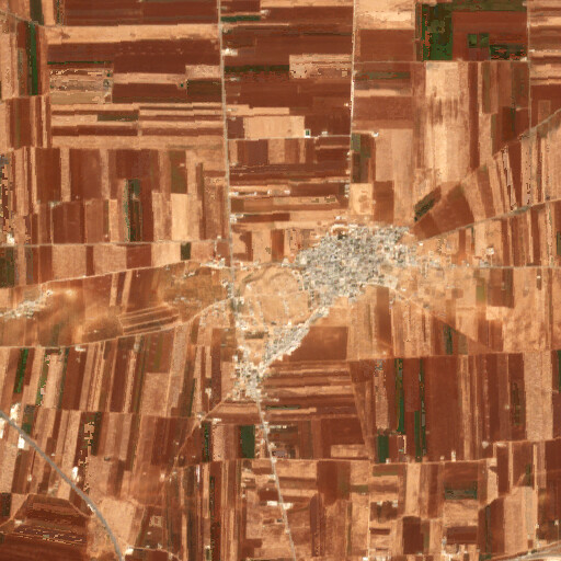 satellite view of the region around Tell Afis