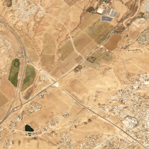 satellite view of the region around Tell es Saqati