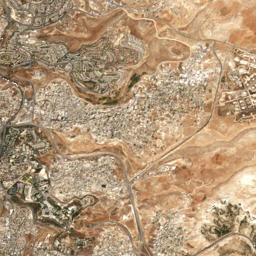 satellite view of the region around Ras el Kharruba