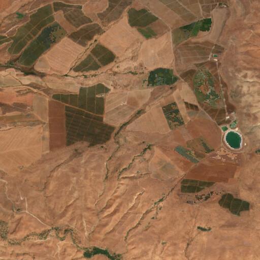 satellite view of the region around Horvat Ukkal