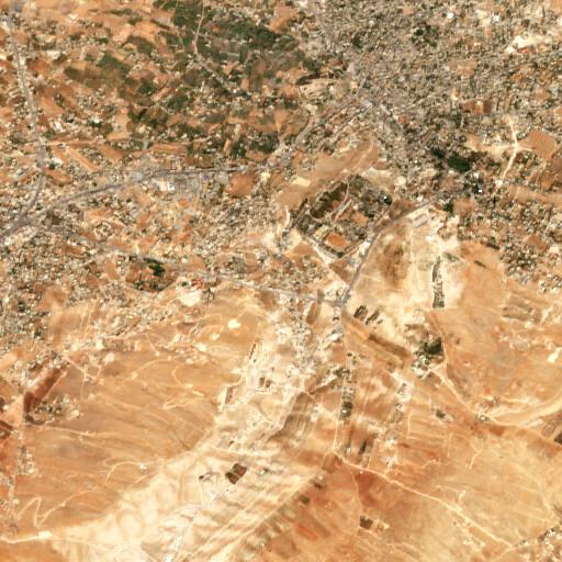 satellite view of the region around Ain Bourdai