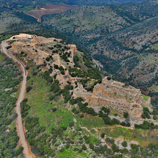 aerial panorama of Qalat es Subeibeh