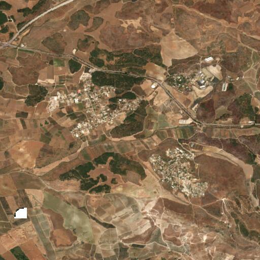 satellite view of the region around Tel Zelafon