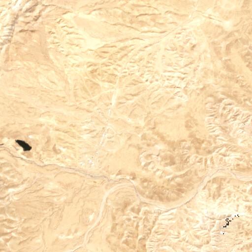 satellite view of the region around Khirbet el Maqari