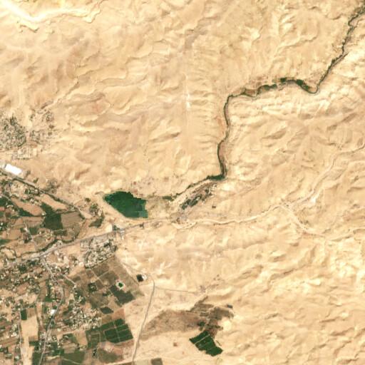 satellite view of the region around Tall Bleibel