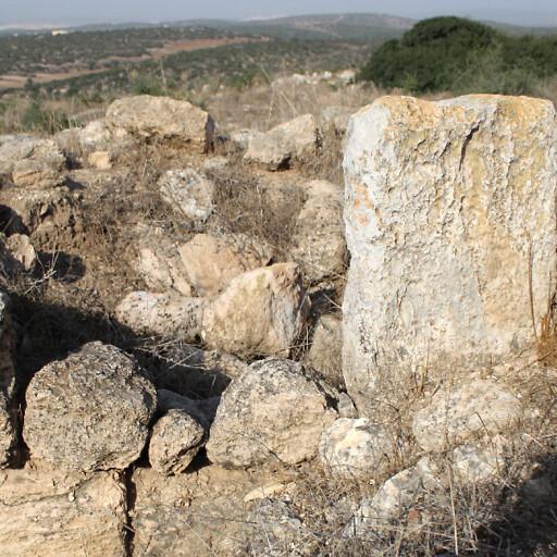 ruins at Tel el Beida