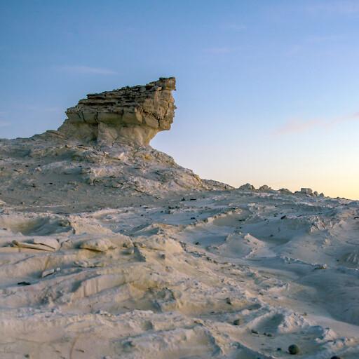 panorama of a rock in Wadi Sirhan