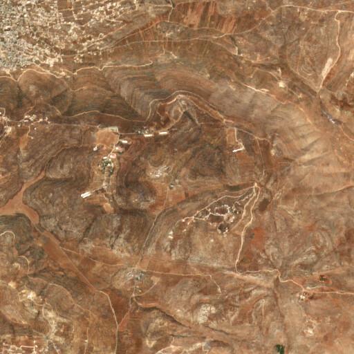 satellite view of the region around Khirbet Yanun