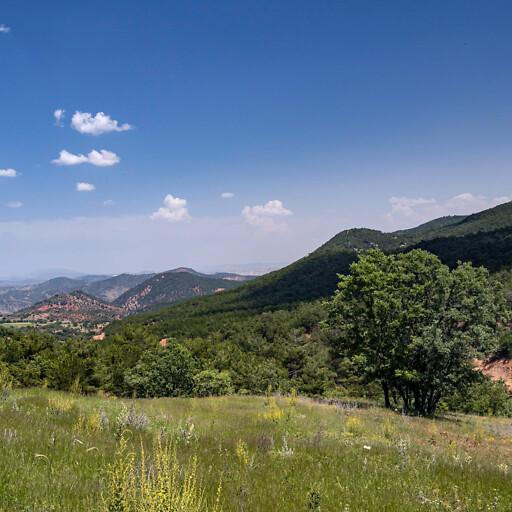 panorama of mountains in Galatia