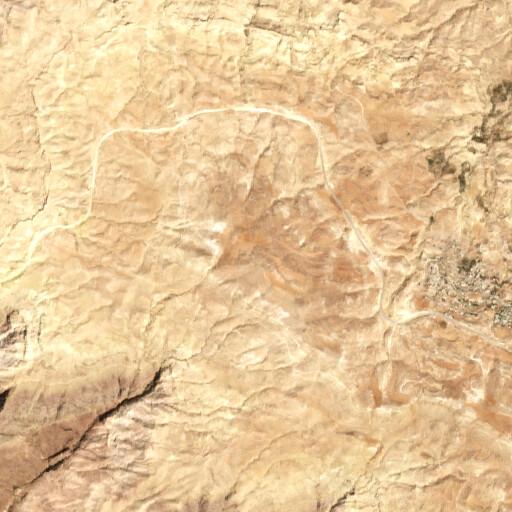 satellite view of the region around Khirbet Meidan