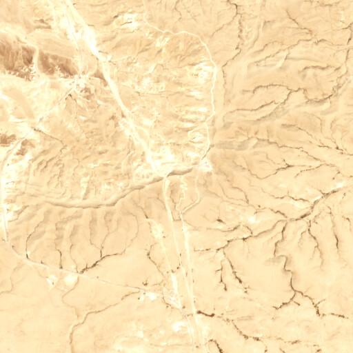 satellite view of the region around Mezudat Sheluhat Qadesh Barnea