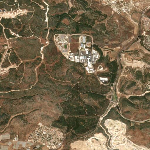 satellite view of the region around Khirbet Kheishum