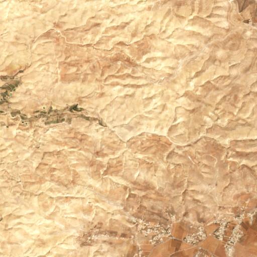 satellite view of the region around Khirbet el Qureiye