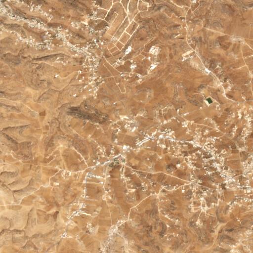 satellite view of the region around Khirbet Sumara