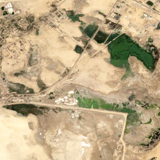 satellite view of the region around Tell Abu Sefeh
