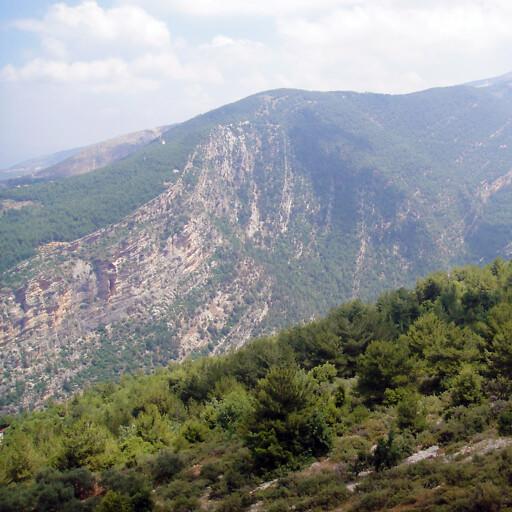 panorama of a mountain in Mount Lebanon