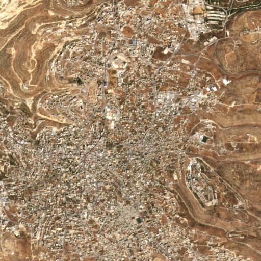 satellite view of the region around Ras et Tahuneh