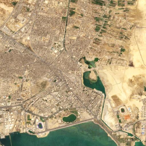 satellite view of the region around Tall al Qulzum