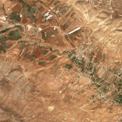 satellite view of the region around El 'Unuq