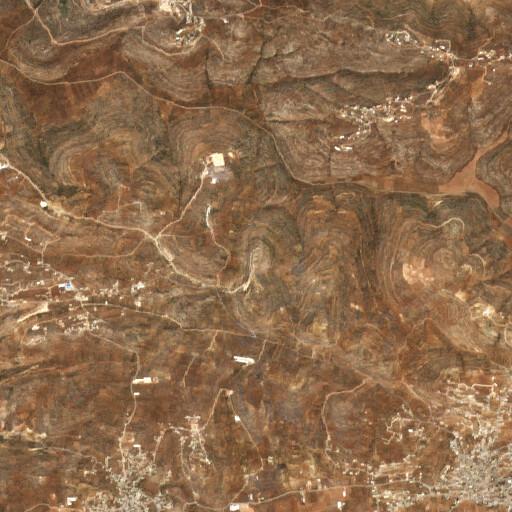 satellite view of the region around Khirbet Urmah