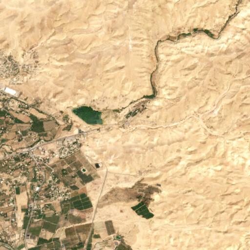 satellite view of the region around Tall Mustah