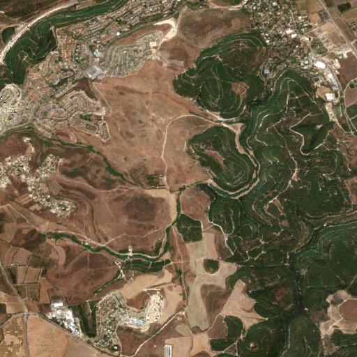 satellite view of the region around Tel Parur