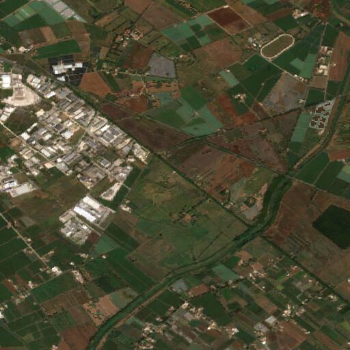 satellite view of the region around the Three Taverns