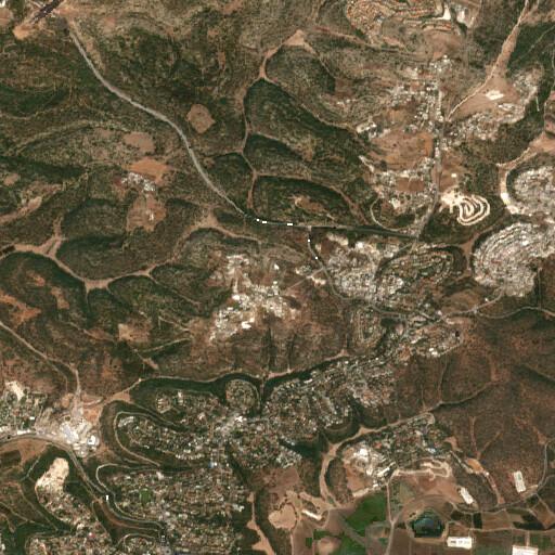 satellite view of the region around Khirbet Buseima