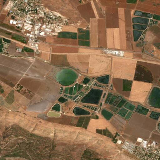satellite view of the region around Tel Salwim
