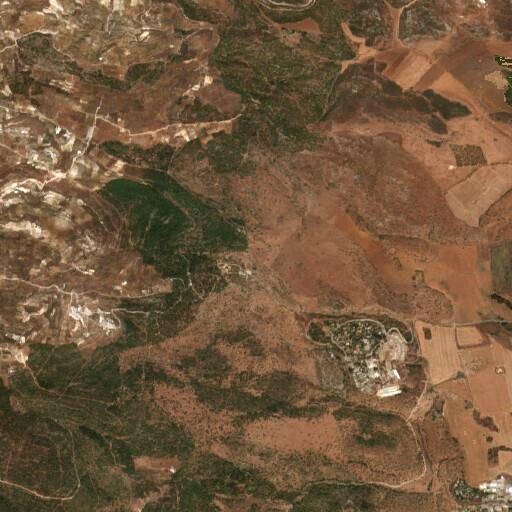 satellite view of the region around Tel Govel