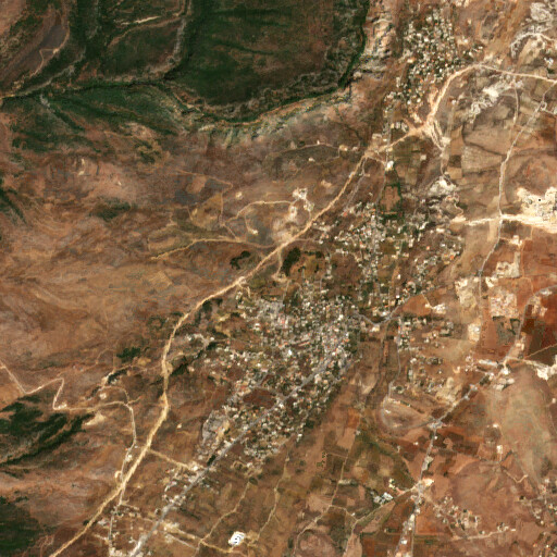 satellite view of the region around Ain Jedeideh