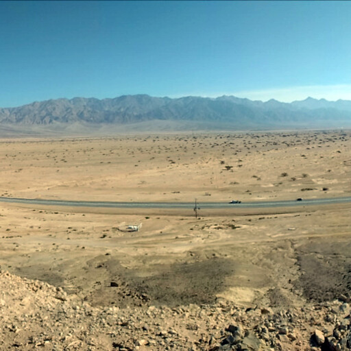 panorama of the modern road between the Dead Sea and the Gulf of Aqaba