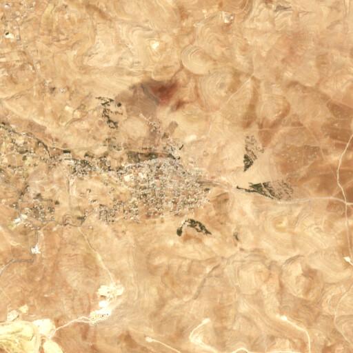 satellite view of the region around Gharandal
