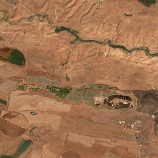 satellite view of the region around El Bira