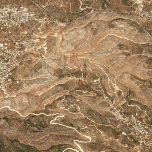 satellite view of the region around Khirbet Judeira