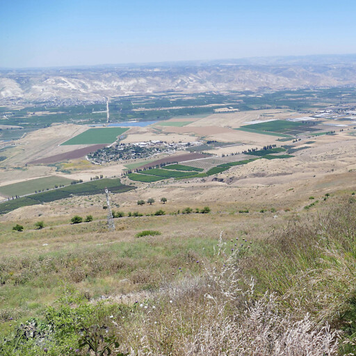 panorama of the Jordan Valley