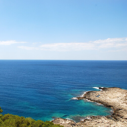 panorama of the Ionian Sea from Porto Selvaggio