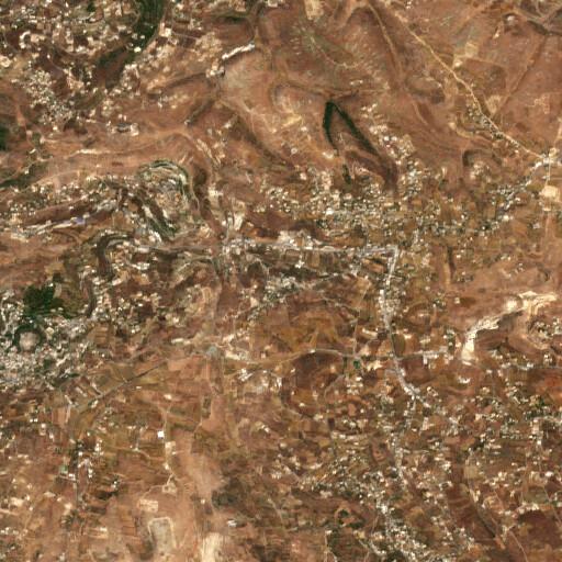 satellite view of the region around Safad el Battikh