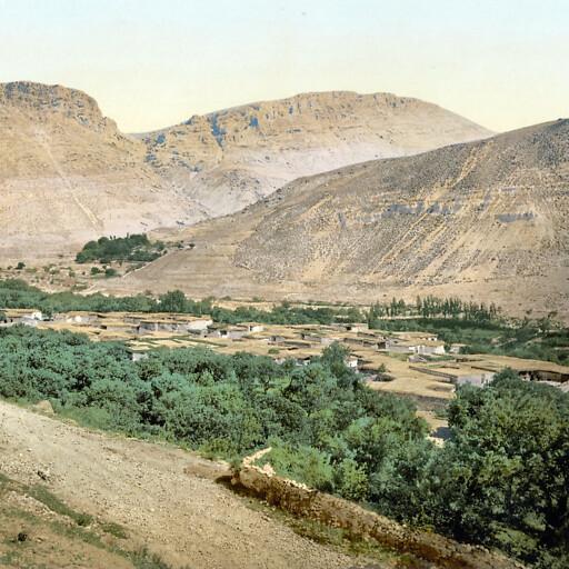 panorama of Souq Wadi Barada