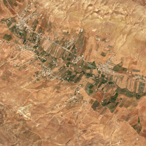 satellite view of the region around Tell Miska