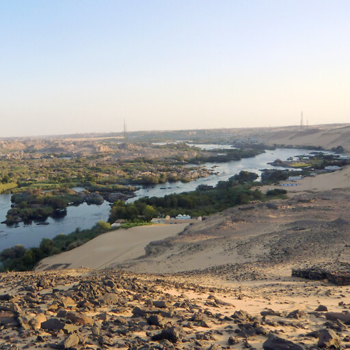 panorama of the Nile River