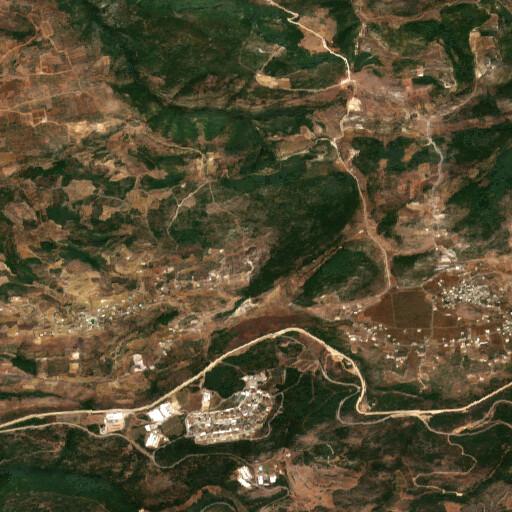 satellite view of the region around Tell el Balat