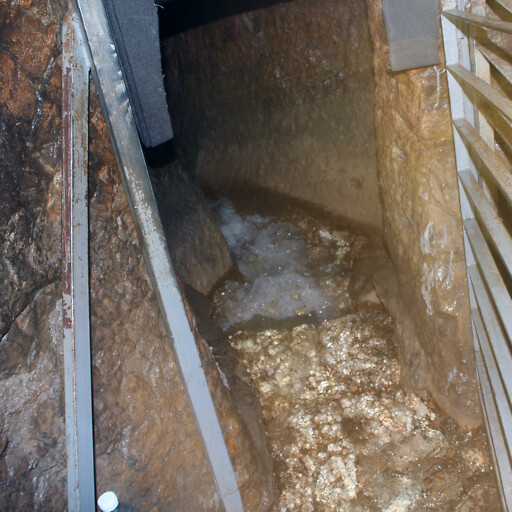 water flowing from the Gihon Spring