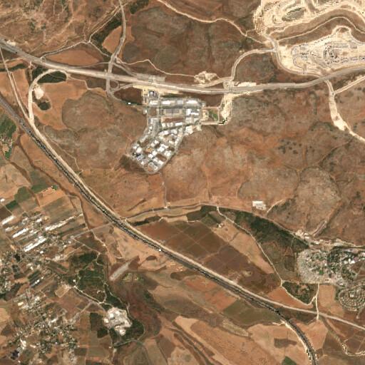 satellite view of the region around Tell Bezqa
